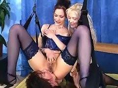 Three lusty matures have fun in lesbian experience